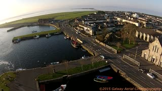 Cool drone footage of Irish city - Video