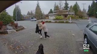 Nanny Catches Thief Stealing Package From House and Karma Just Did Its Job - Video