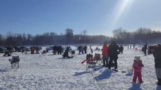 The Ice-fishing competition  - Video