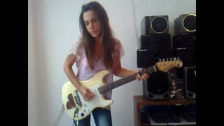 Guitarist Eva Vergilova's incredible Jimi Hendrix cover