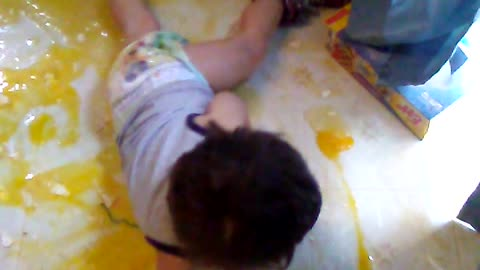Kiddo Makes a Huge Egg Mess