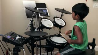 8-year-old boy delivers amazing drum cover - Video