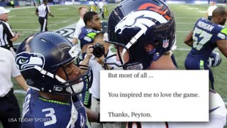 Russell Wilson Writes a Poem to Peyton Manning - Video