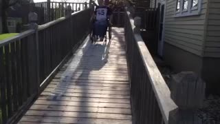 30 Feet of Bubble Wrap + Ramp + Wheelchair = Lots of Fun - Video