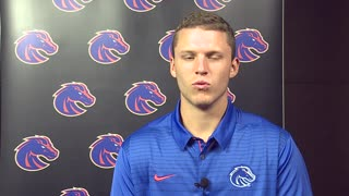 Bronco players and Coach Harsin talk about passing of Lyle Smith - Video