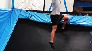 Collab copyright protection - basketball trampoline jump fail - Video