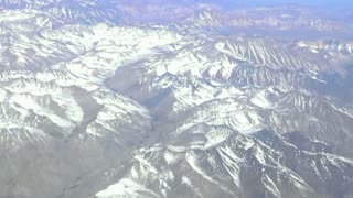 Aerial view of mount Andes in Chile