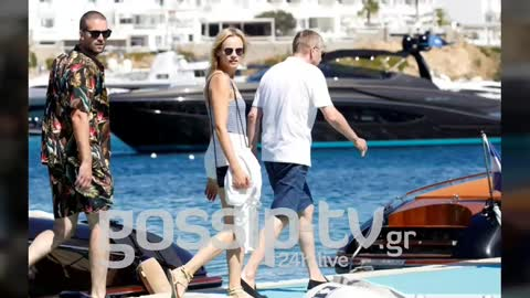 Russian tycoon Dmitry Rybolovlev and his girlfriend Daria Strokous in Mykonos