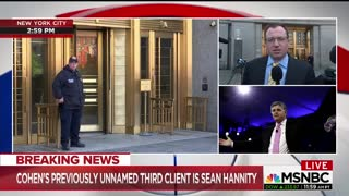 Media going nuts that Hannity is Michael Cohen's third unnamed client - Video