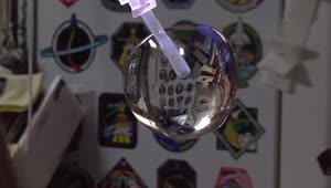 Space station astronauts grow a water bubble - Video