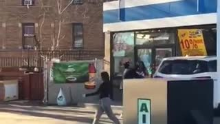 Woman Loses It After Crashing Into Convenience Store