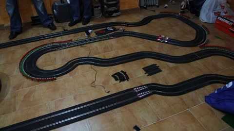 Scalextric competition at home