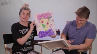 Watch Drunk Adults Finger Paint Each Other - Video