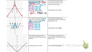 Transforming functions part 2