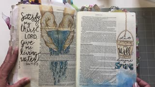Gospels Flip Through - Bible Journaling (from Lovely Lavender Wishes)