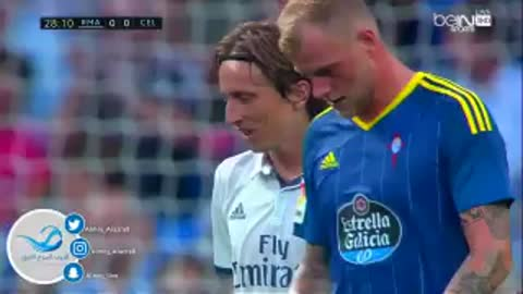 VIDEO: Luca Modric amazing dribblings & hits the post