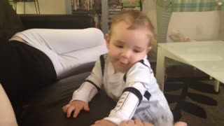 Baby Stormtrooper gives high five!  - Video