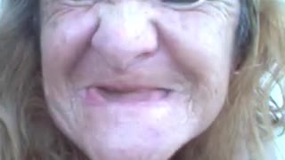 Old woman funny smile - Video