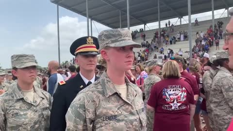 Airman surprised by her brother at graduation ceremony