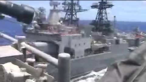 US Navy releases video of near-miss with Russian ship