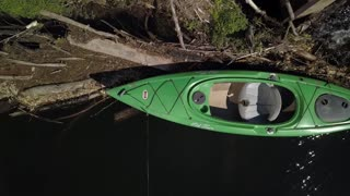 Drone Salvages Kayak Stuck in Dam - Video