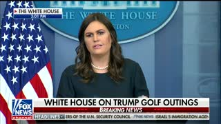 Sarah Sanders Touts Trump's Golfing Habits as a Way He Advances His Agenda - Video