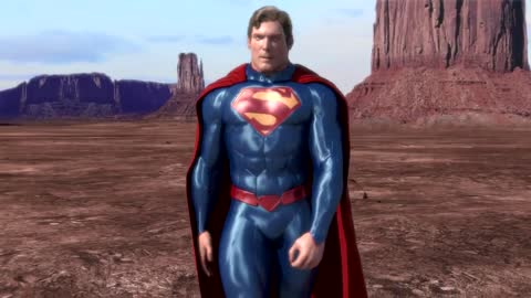 Christopher Reeve with 'New 52' Suit