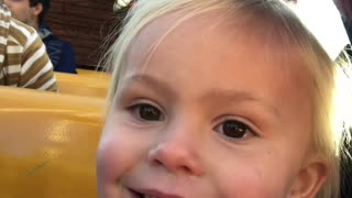 3 -Year-Old Has a Roller Coaster of Emotions on Theme Park Ride