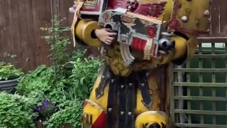 Prop Builder Crafts Amazing Space Marine Costume during Lockdown