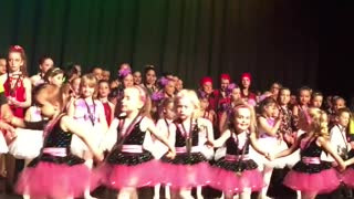Little Girl Shoots For The Stars And Takes A Solo Bow - Video