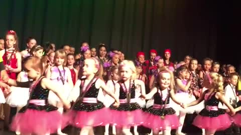 Little Girl Shoots For The Stars And Takes A Solo Bow