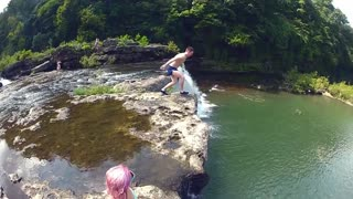 Jump and Dive into Water