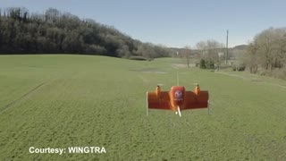 Wingtra drone is helicopter-plane hybrid - Video