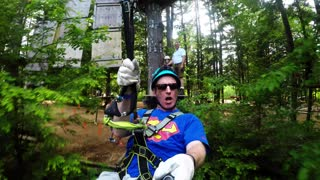 Zip-lining Through the Trees  - Video