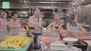 Juicing For The Homeless With The GIVE Project In LA - Video