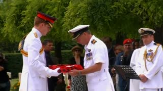 Prince Harry Commemorates WWII Soldiers At Montecassino - Video