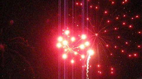 FIREWORKS AT BRADLEY BEACH, NJ - Fourth of July (New Jersey shore ocean view travel)