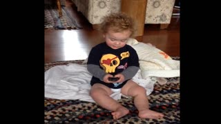 Innocent Prank Leaves Phone Dropped On The Ground And Tot In Tears - Video