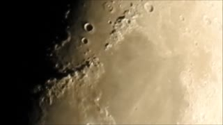 Clear Zoom To Half Moon 239,000 Miles Away!  - Video