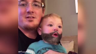 This Baby Knows How To Rock A Beard, Until He Sneezes - Video