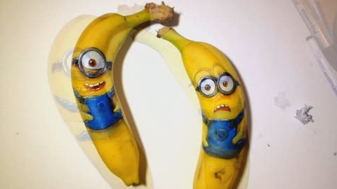 Parenting tip: Create realistic Minions using bananas