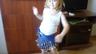 Belly dance Victoria, 3 years  - Video