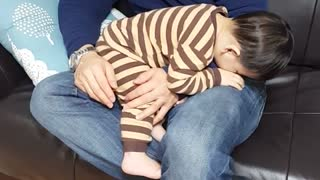 Father And Son Are Just Too Tired! - Video