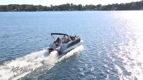 Manitou Pontoon Boat Performance Video