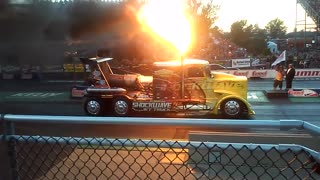 2015 Shockwave Jet Truck Lifts Asphalt at Summit Motorsports Park - Video