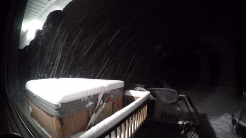 Time lapse captures 21 hour snow storm in New Hampshire
