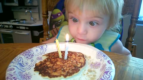 Baby Hilariously Fails To Blow Out Birthday Candles