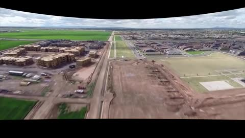 The Flat Earth The 2 Miles Flight Down A Straight Path ( with fish eye lens correction )HD