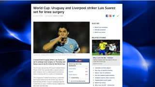 LUIS SUAREZ TO MISS WORLD CUP??!? - Video