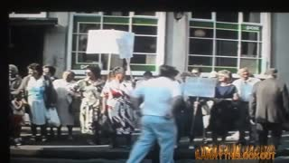 Early 90s Protest Ebrun Post Office - Video